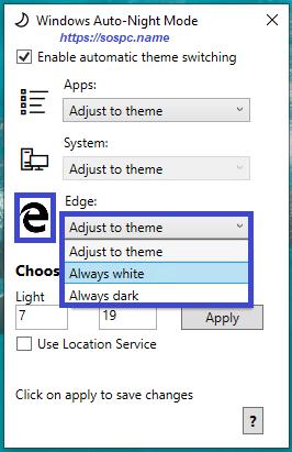 activer automatiquement le thème sombre sous Windows 10 1809 image 12