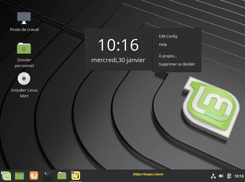 L'outil Desklets de Linux Mint image 7