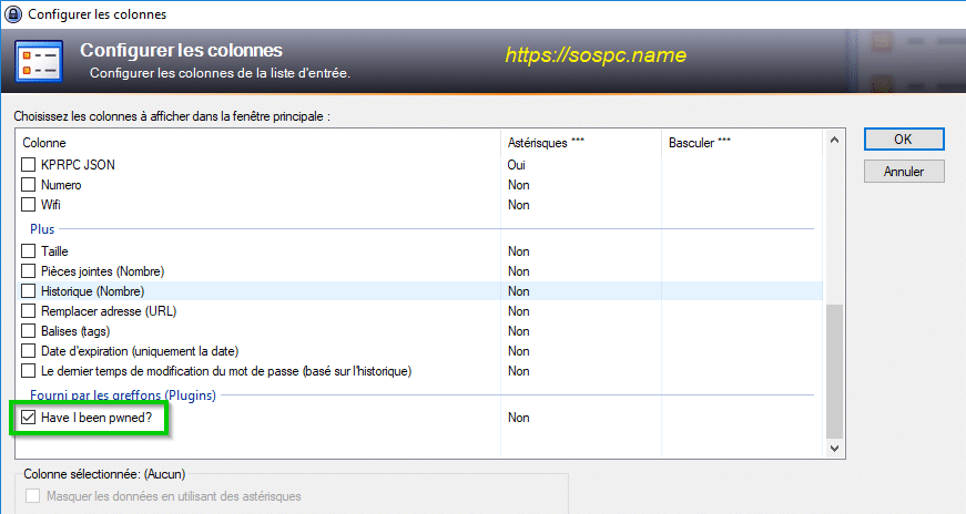 Vérifiez tous les mots de passe KeePass tutoriel sur SOSPC.name