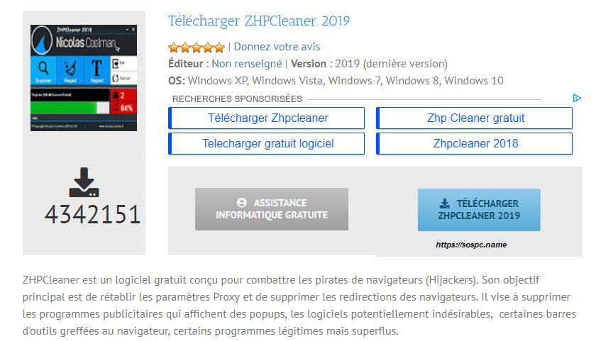 TÉLÉCHARGER ZHPCLEANER