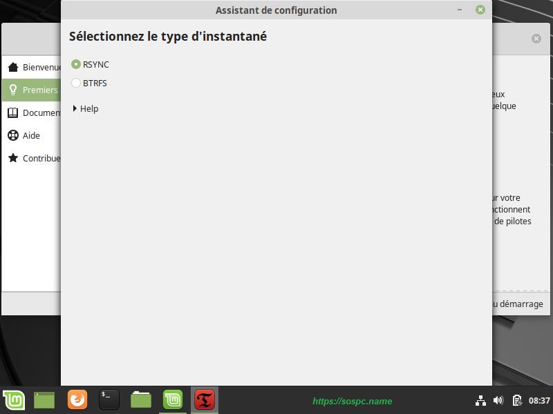 L'écran d'accueil de Linux Mint, image 4