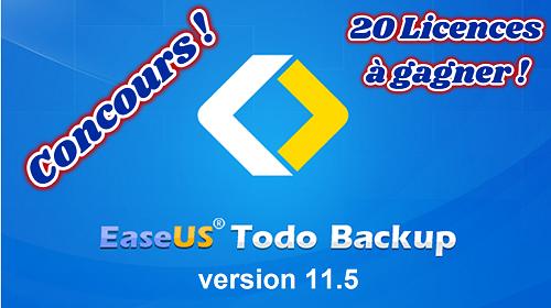 Concours EaseUS Todo Backup Home 11.5