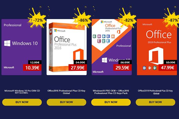 Promotion du printemps URCDkey pour Windows 10 Pro OEM (10 euros) - logiciel et jeux à prix cassés.