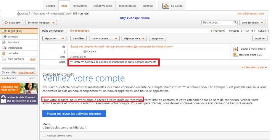 Messagerie Hotmail ou Outlook déclarer son PC ou Smartphone comme Appareil de confiance