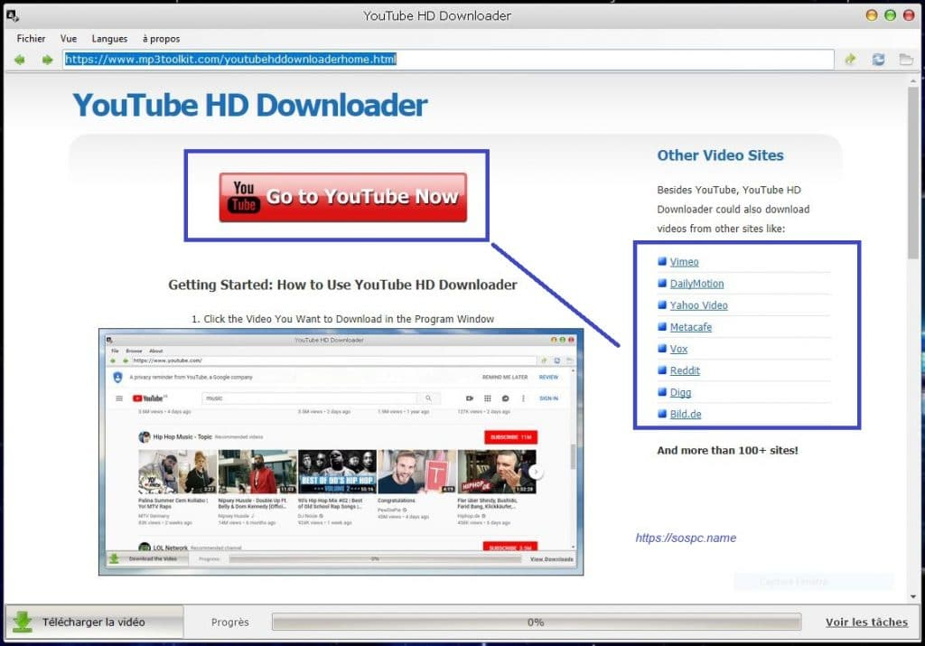 YouTube HD Downloader tutoriel image 1