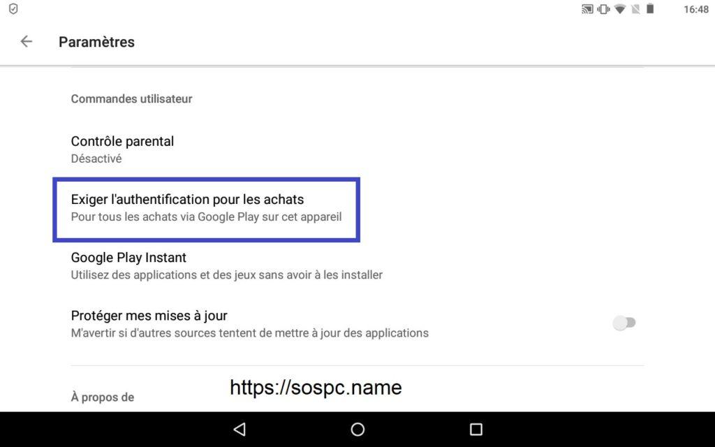 Désactiver les achats en 1 clic sur votre tablette/téléphone Android.