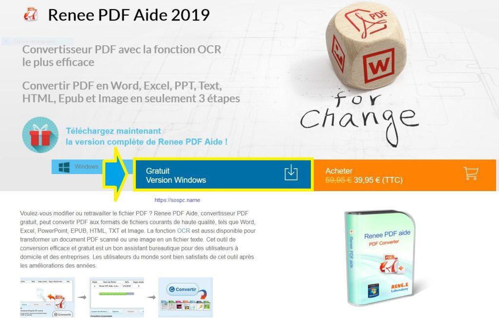 Renee PDF Aide : convertissez vos PDF