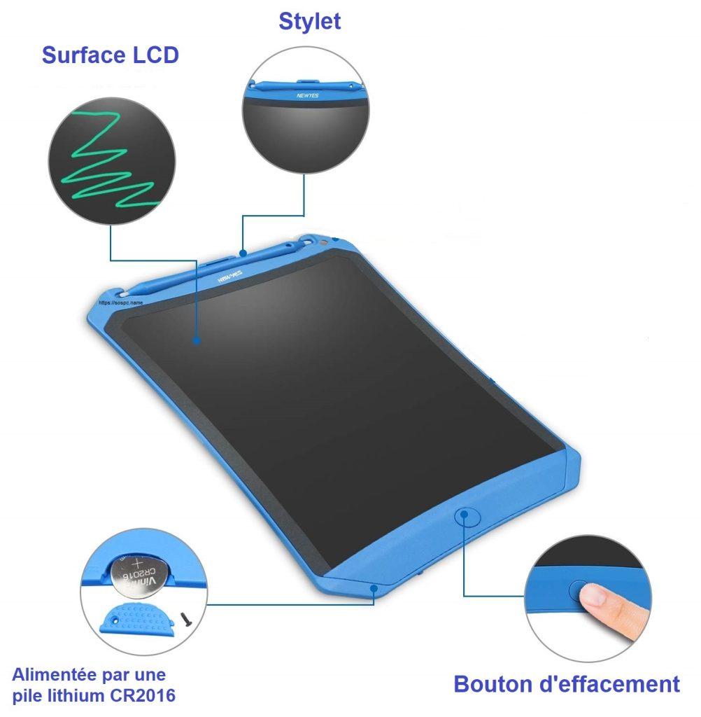 Ardoise numérique LCD