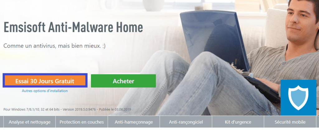 Télécharger Emsisoft Anti-Malware Home