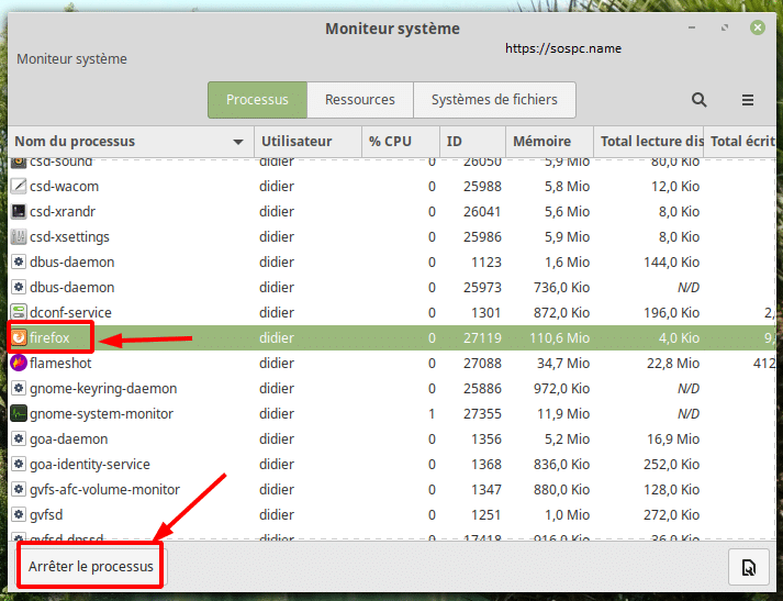 Linux Mint que faire si Internet venait à se figer, image 3
