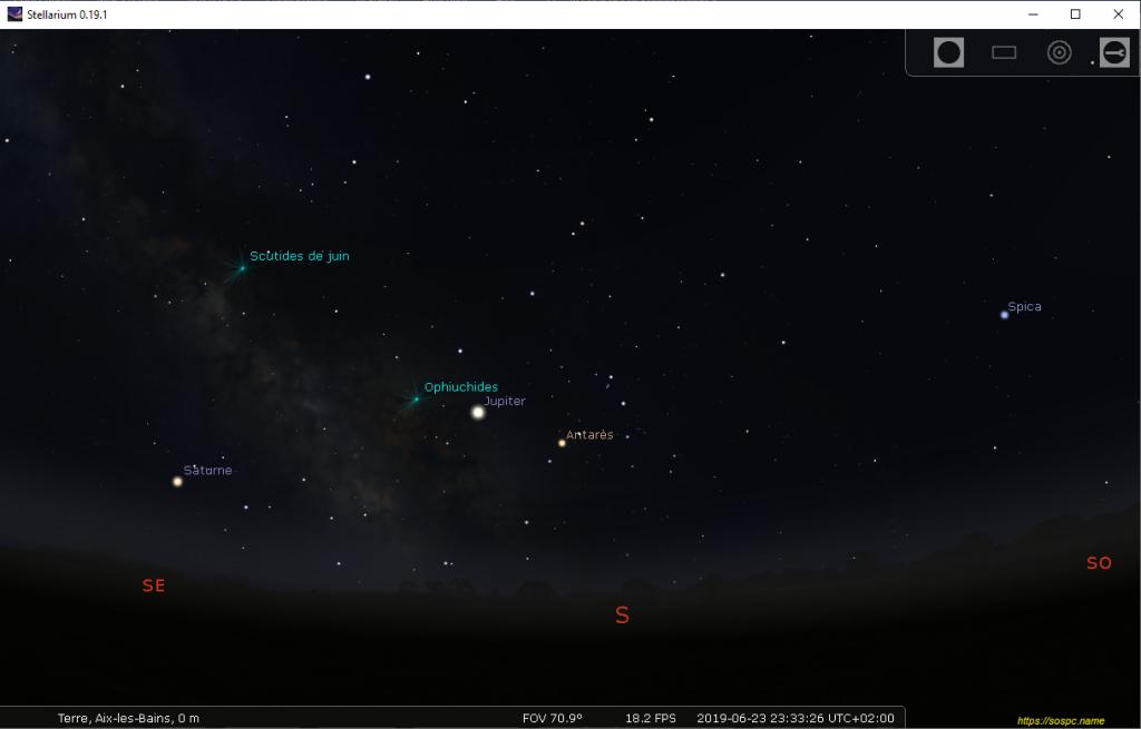 Stellarium tutoriel sur le logiciel Planétarium gratuit qui affiche un ciel réaliste