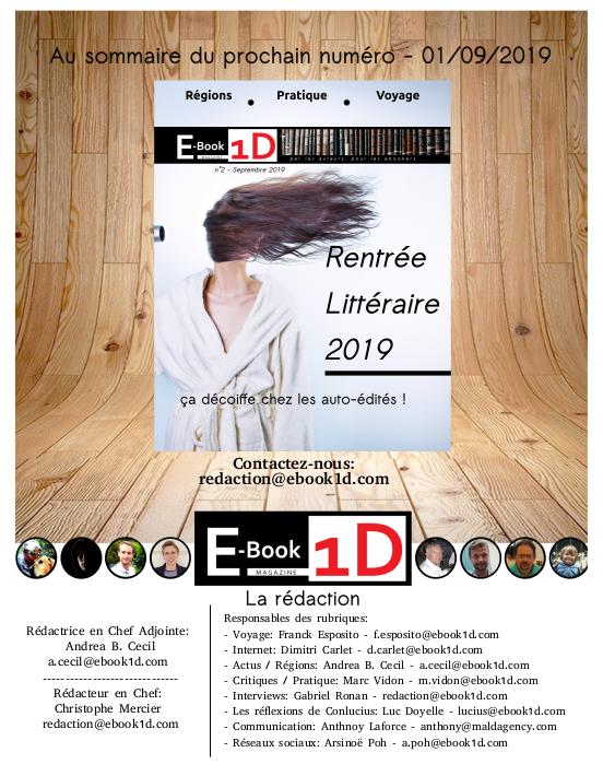 E-BooK1D premier magazine dédié au monde de l'auto-édition image 7