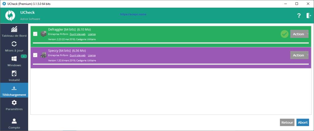 Ucheck logiciel testé par trois contributeurs du site Sospc.name