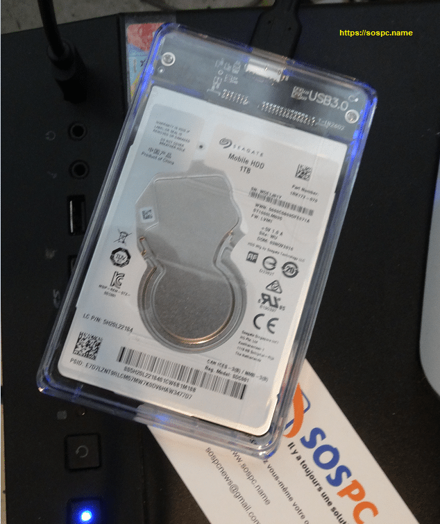 Un boîtier pour Disque Dur Externe 2.5 pouces performant pour moins de 10 euros.