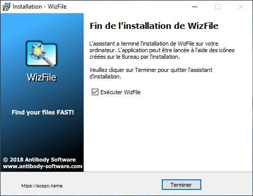 WizFile, il trouve très rapidement vos fichiers et vos dossiers.