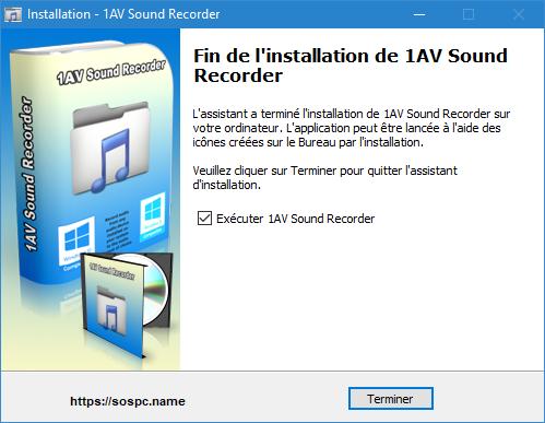 1AV Sound Recorder version française