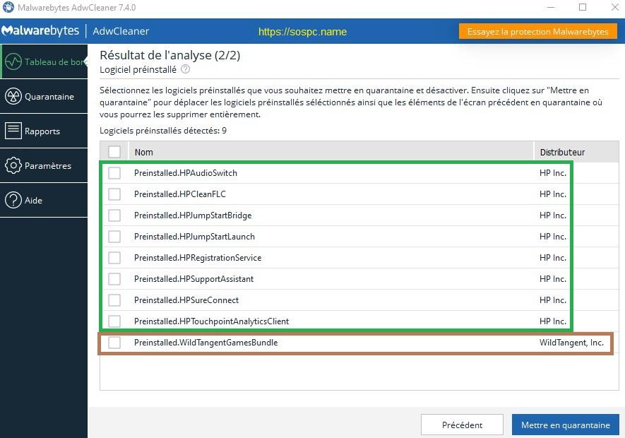 AdwCleaner 7.4 : il détecte désormais les logiciels préinstallés.