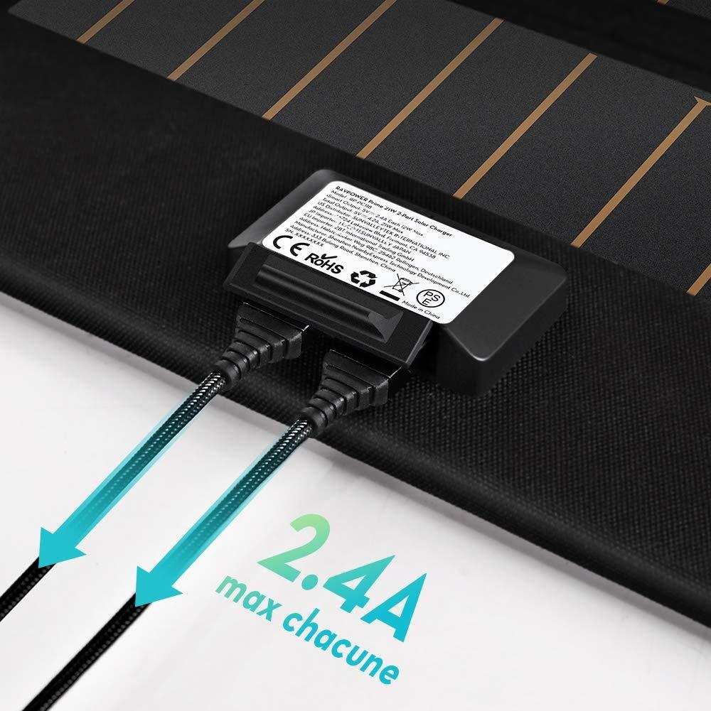 Chargeur à Panneaux Solaires 2 Ports USB.