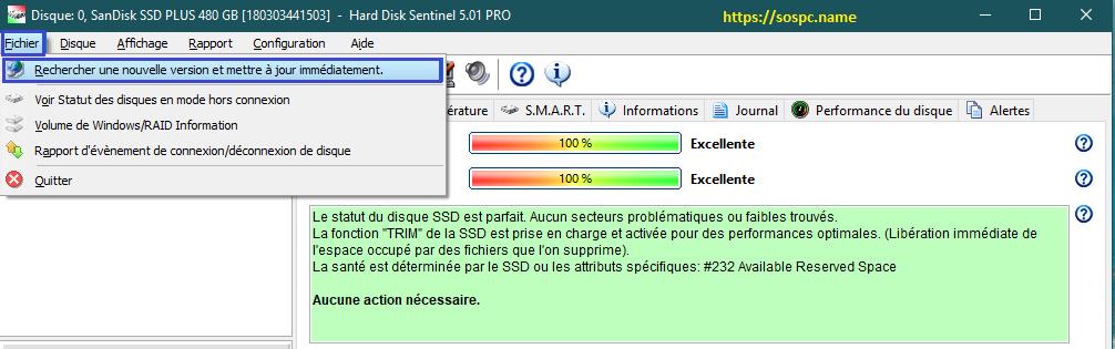 La version 5.50 d'Hard Disk Sentinel est disponible.