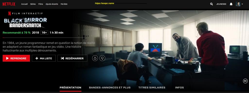 Netflix Flip : l'extension