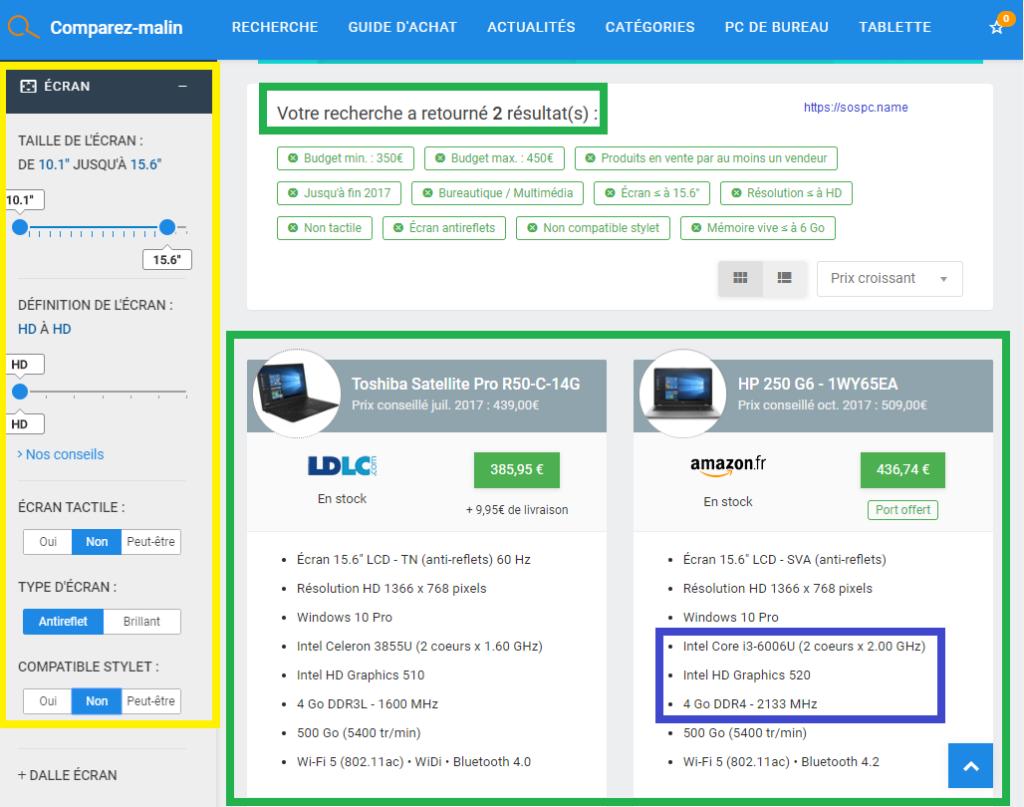 Vous avez besoin d'acheter des produits informatiques ? Utilisez un comparateur !