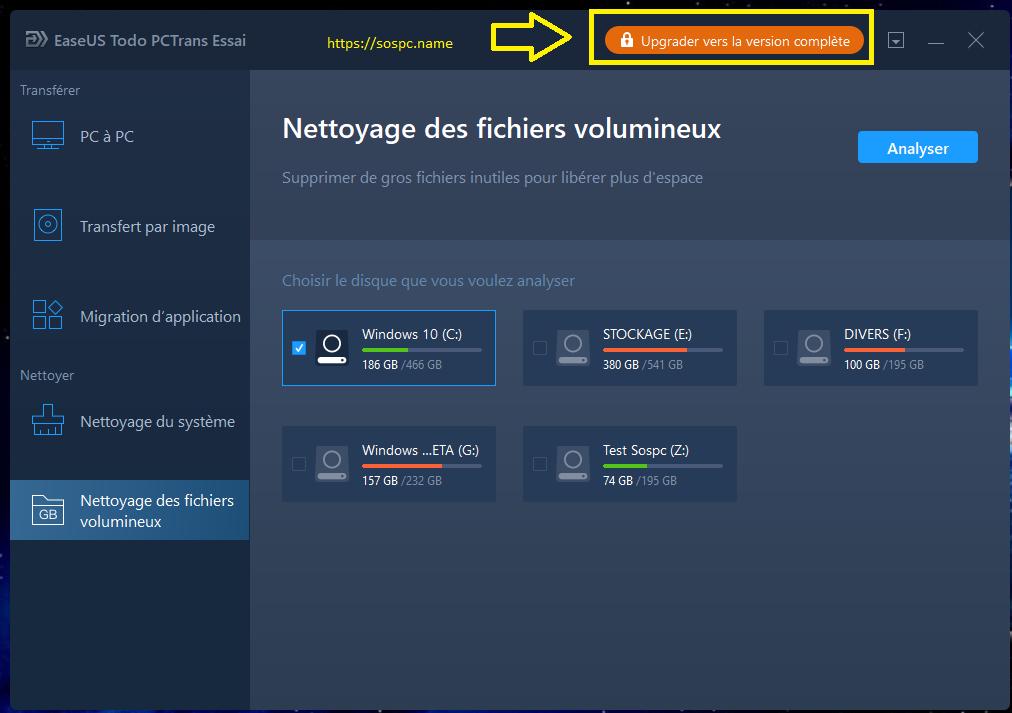 EaseUS Todo PCTrans 11 tutoriel complet en français