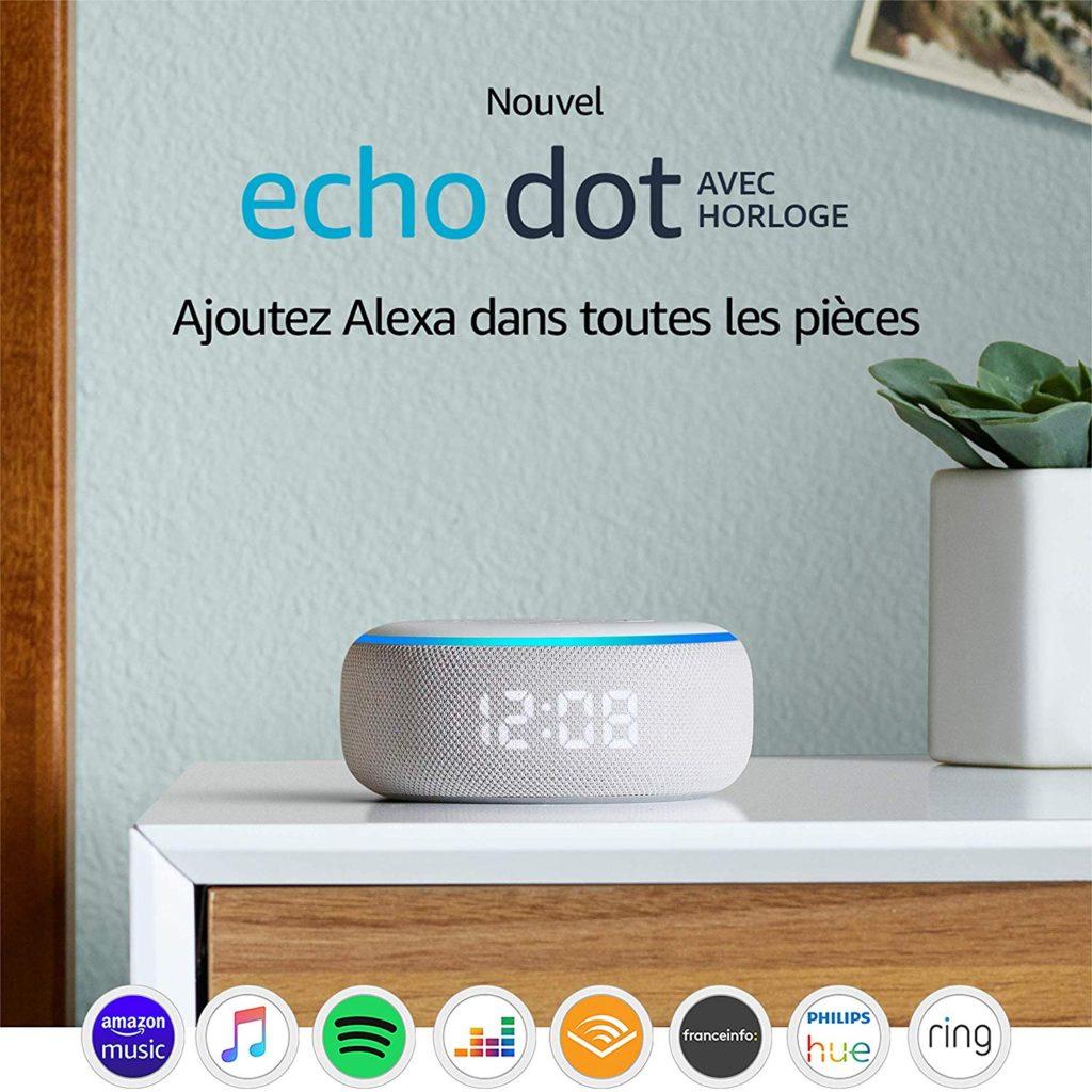 Nouveau : l'Echo Dot 3 Alexa avec horloge LED, le test.