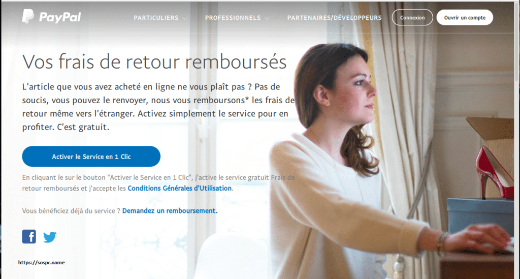 PayPal rembourse vos frais de retour