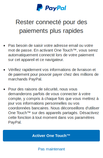 PayPal rembourse les frais de retour