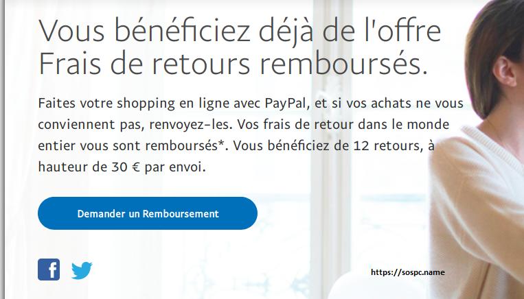 PayPal rembourse les frais de retour, explications