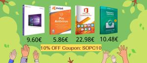 Bons Plans : Windows 10 Pro @ 9.60€, Office dès 22.98€ et Avast Pro @ 5.86 € !