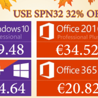 Les Promotions Black Friday : Windows 10 Pro @ 9.48€, Office 2019 Pro @ 44.78€, Office 365 Pro @ 20.82€.
