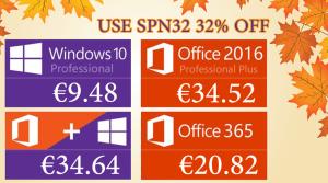 Promotion Black Friday : Windows 10 Pro @ 9.48€, Office 2019 Pro @ 44.78€, Office 365 Pro @ 20.82€.
