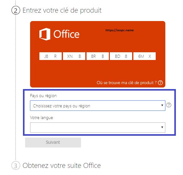 Activer et Télécharger la Suite Office