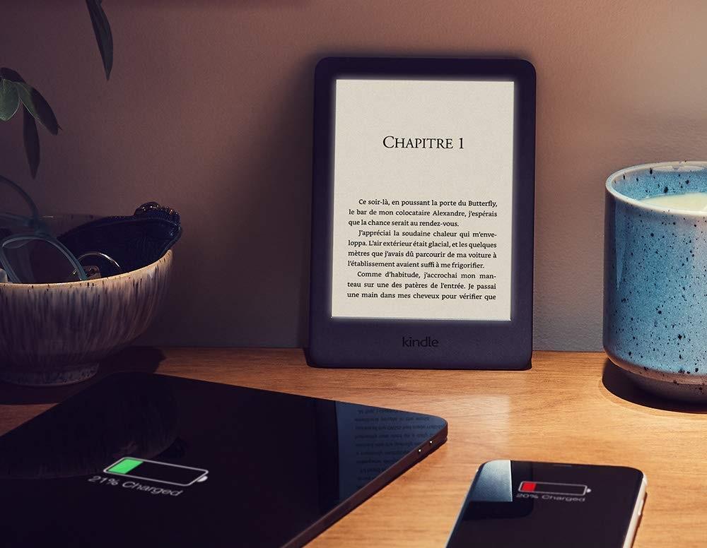 La Kindle d'Amazon avec un éclairage frontal intégré en test.