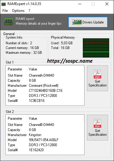 Connaître les infos pertinentes de vos mémoires vives avec RAMExpert.