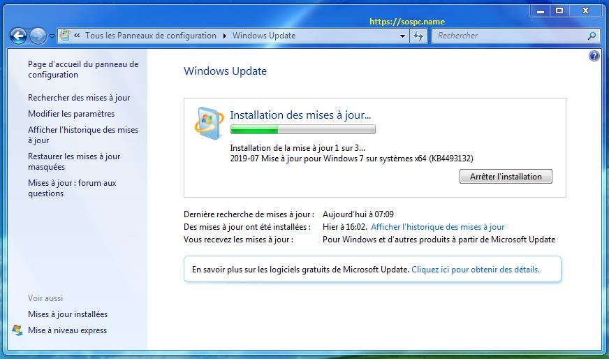 Windows 7: Windows Update à nouveau bloqué