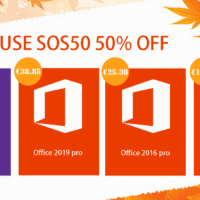 Promotions d'Hiver : Windows 10 Pro @ 9.34€, Office 2019 Pro @ 38.85€.