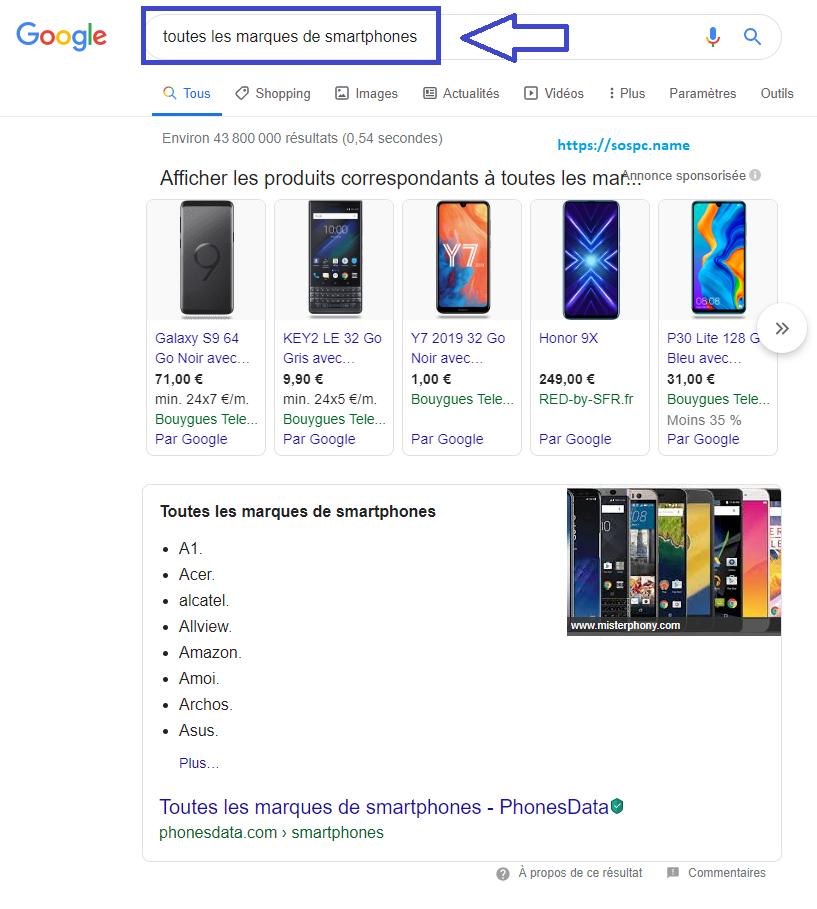 Savez-vous utiliser le moteur de recherche Google ?