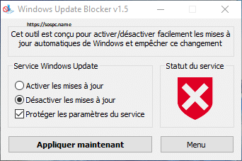 Windows Update Blocker : bloquer très facilement Windows Update.