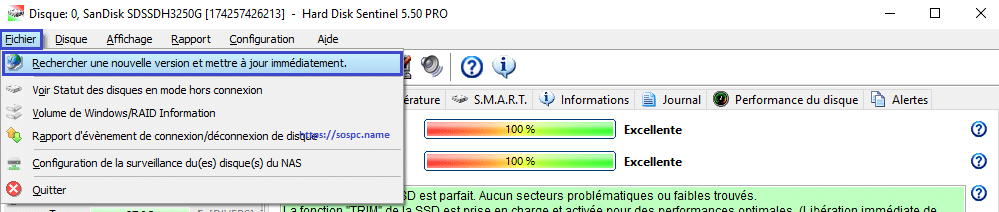 La version 5.60 d'Hard Disk Sentinel est disponible