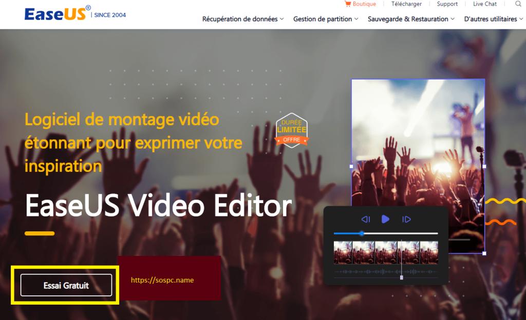 EaseUS Video Editor, un logiciel de montage