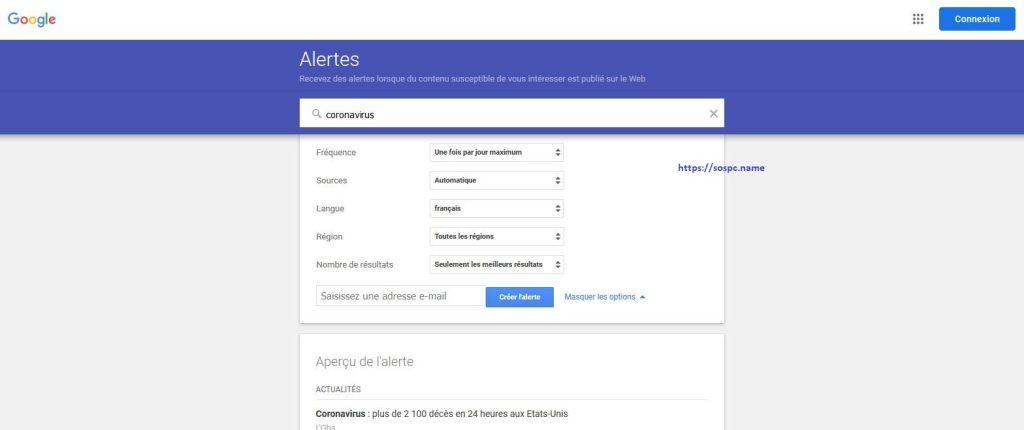 Recevoir des alertes sur les actualités avec Google alertes