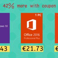 Les Promos de Juin sont arrivées : Windows 10 Pro à 8,43€ et Office 2016 Pro à 21,73€ !