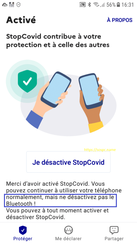 installer StopCovid tutoriel