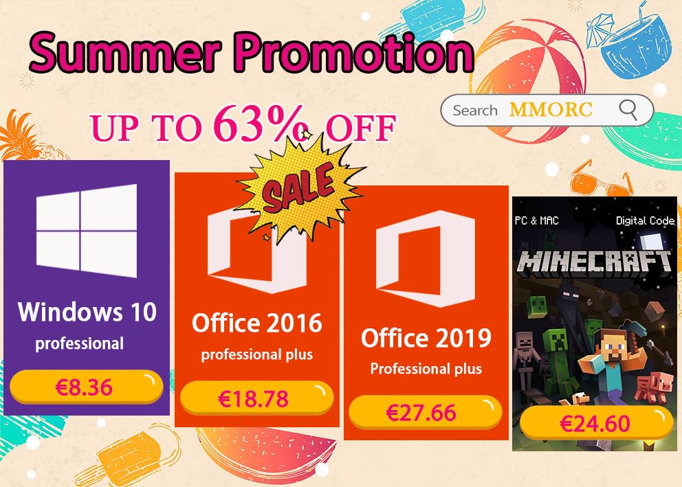 Des prix très serrés : Windows 10 Pro @8.36€, Office 2016 Pro @18.78€ !