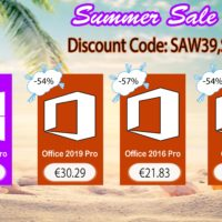Promotions de l'été : Windows 10 Pro @ 8,50€, Office 2019 Pro @ 30,29€ !