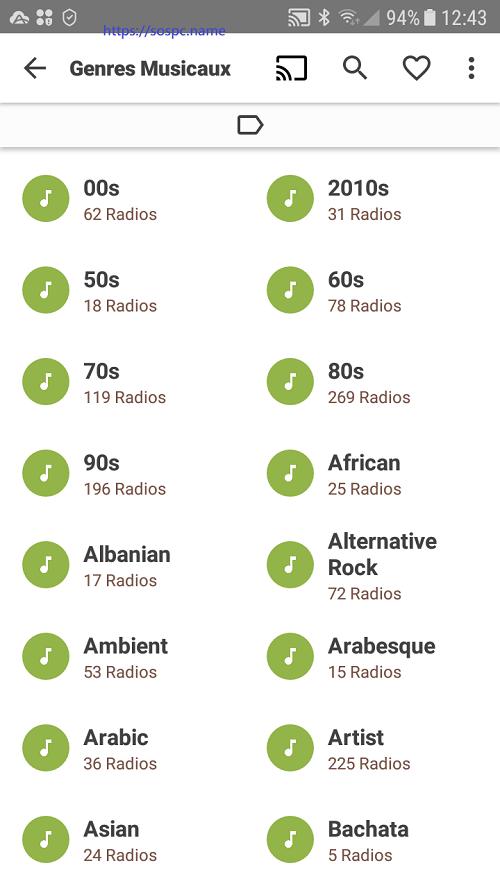 VRadio : une appli Android pour écouter des radios