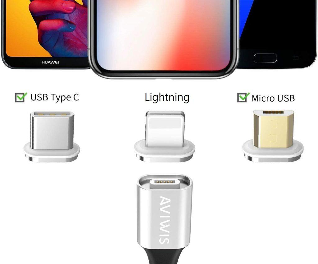 Un câble de charge compatible Android, Samsung, Huawei, Xiaomi, iPhone et Kindle