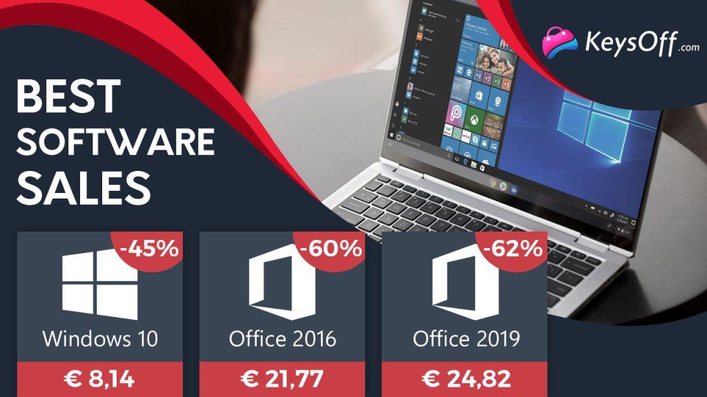 Des offres valables une semaine seulement : Windows 10 PRO à 8,14 € et Office à partir de 21,77 € !